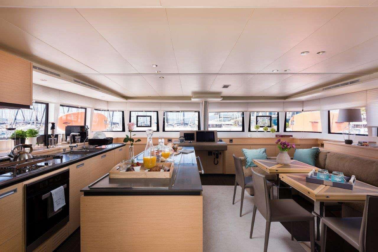 OPAL Lagoon 620 Luxury Catamaran Dining