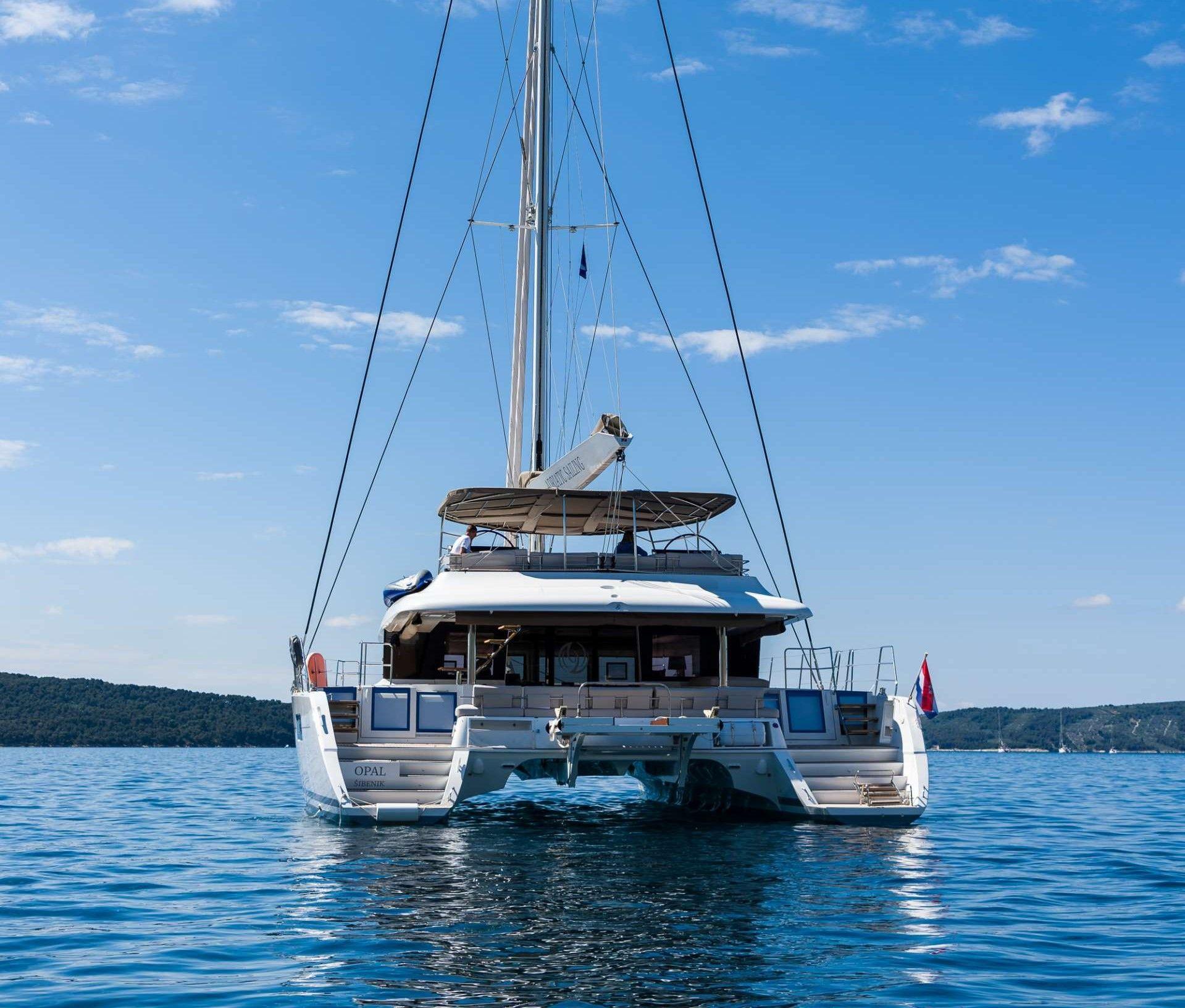 OPAL Lagoon 620 Luxury Catamaran Rear View