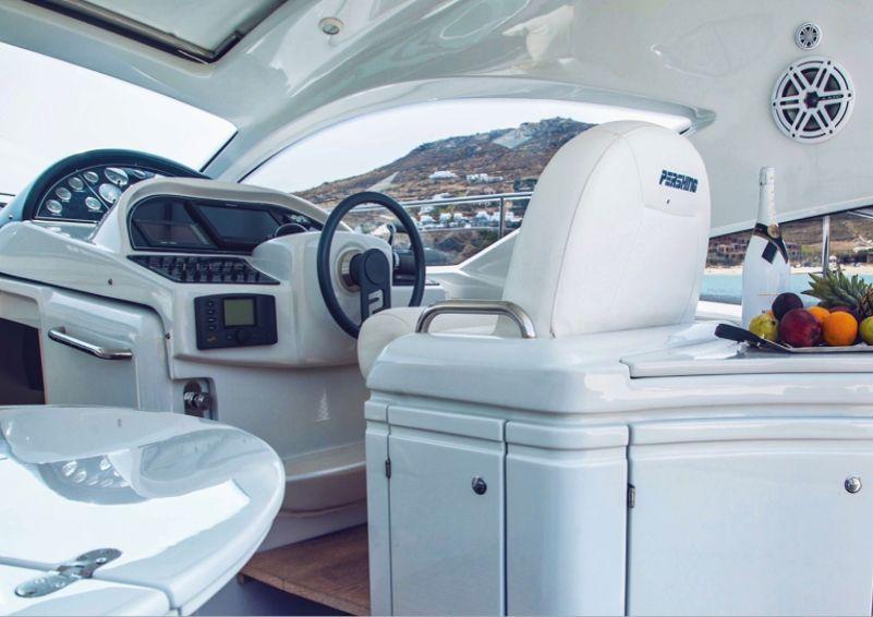 pershing 43 day charter italy sardinia - captains seat