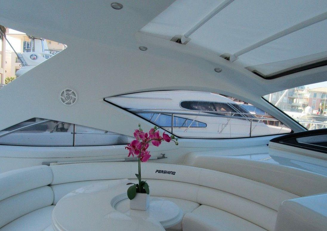 pershing 43 day charter italy sardinia - on board