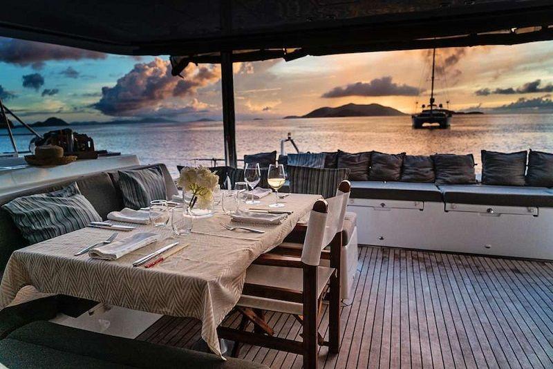 aft deck at sundown