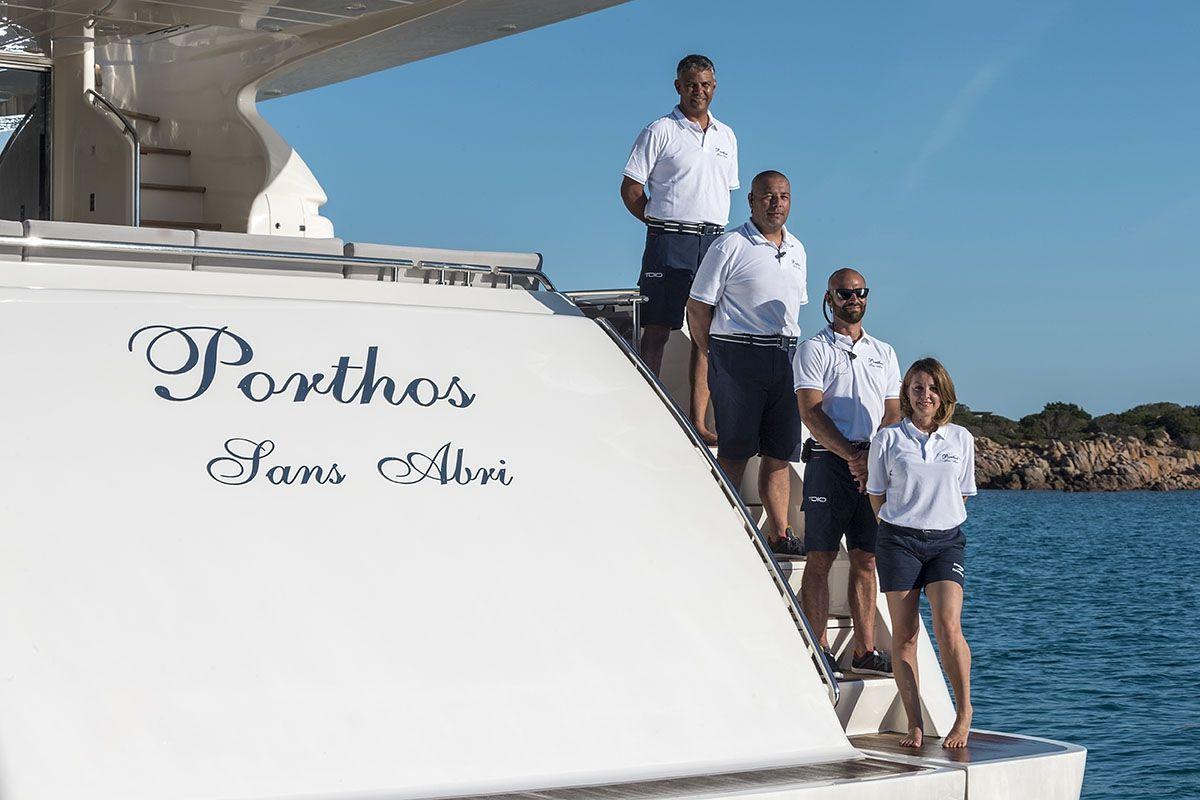 Porthos Sans Abri Ferretti Sardinia Crew