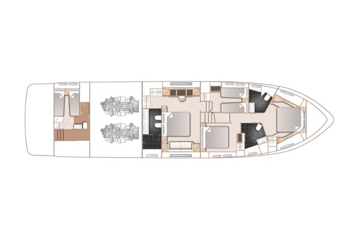 Layout lower deck