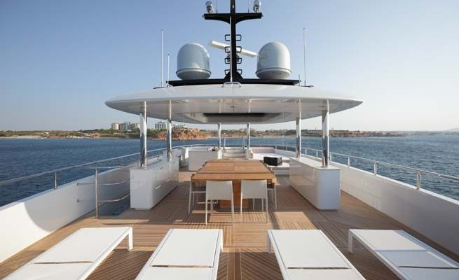 QUARANTA Curvelle 34m Luxury Superyacht Sun Lounge