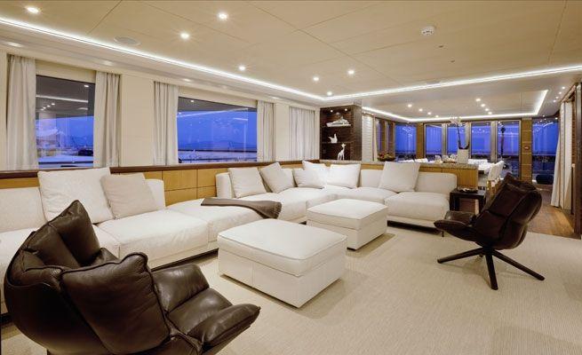 QUARANTA Curvelle 34m Luxury Superyacht Main Salon