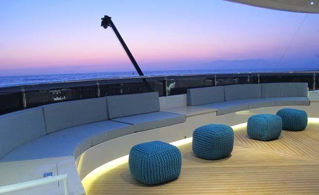 QUARANTA Curvelle 34m Luxury Superyacht Night Lights