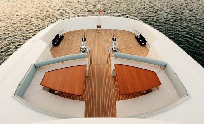QUARANTA Curvelle 34m Luxury Superyacht Sun Deck