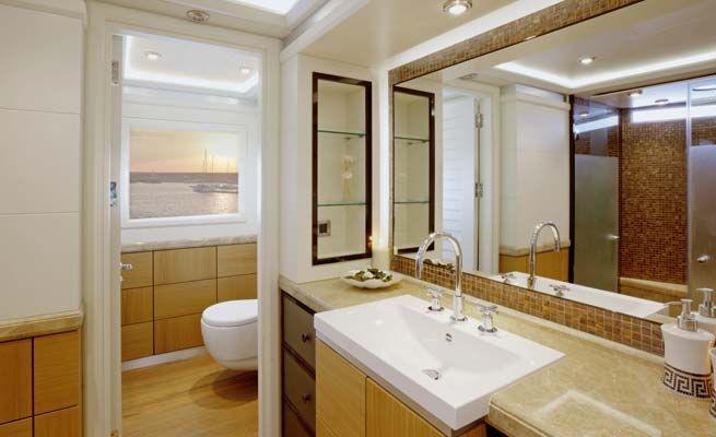 QUARANTA Curvelle 34m Luxury Superyacht Luxury Bathroom