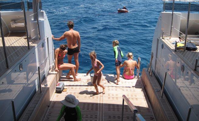 QUARANTA Curvelle 34m Luxury Superyacht Swim Platform