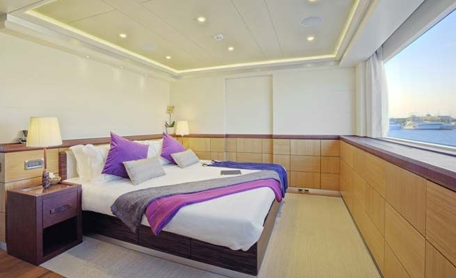 QUARANTA Curvelle 34m Luxury Superyacht Convertible Cabin