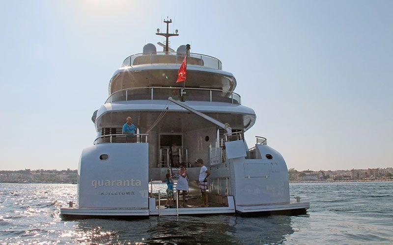 QUARANTA Curvelle 34m Luxury Superyacht Aft Deck