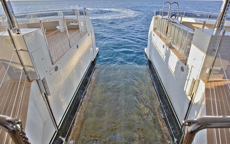 QUARANTA Curvelle 34m Luxury Superyacht Submerged Swim Platform