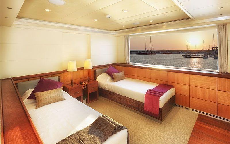 QUARANTA Curvelle 34m Luxury Superyacht Twin Cabin