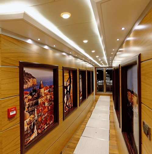 QUARANTA Curvelle 34m Luxury Superyacht Passageway