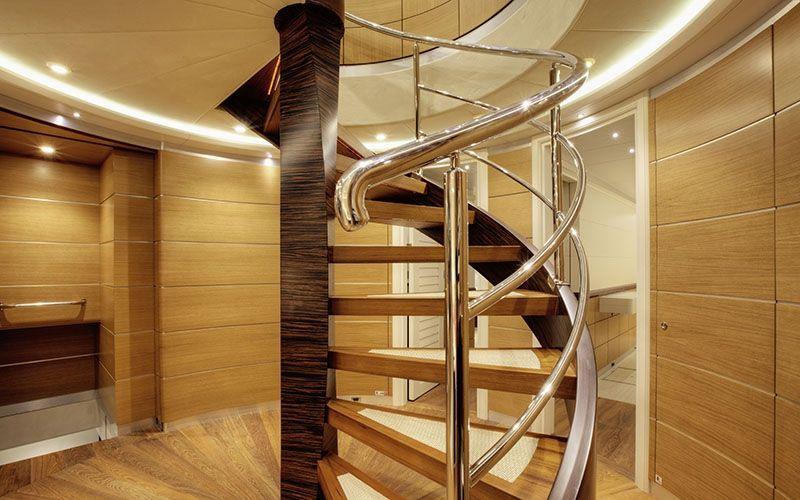 QUARANTA Curvelle 34m Luxury Superyacht Stairway