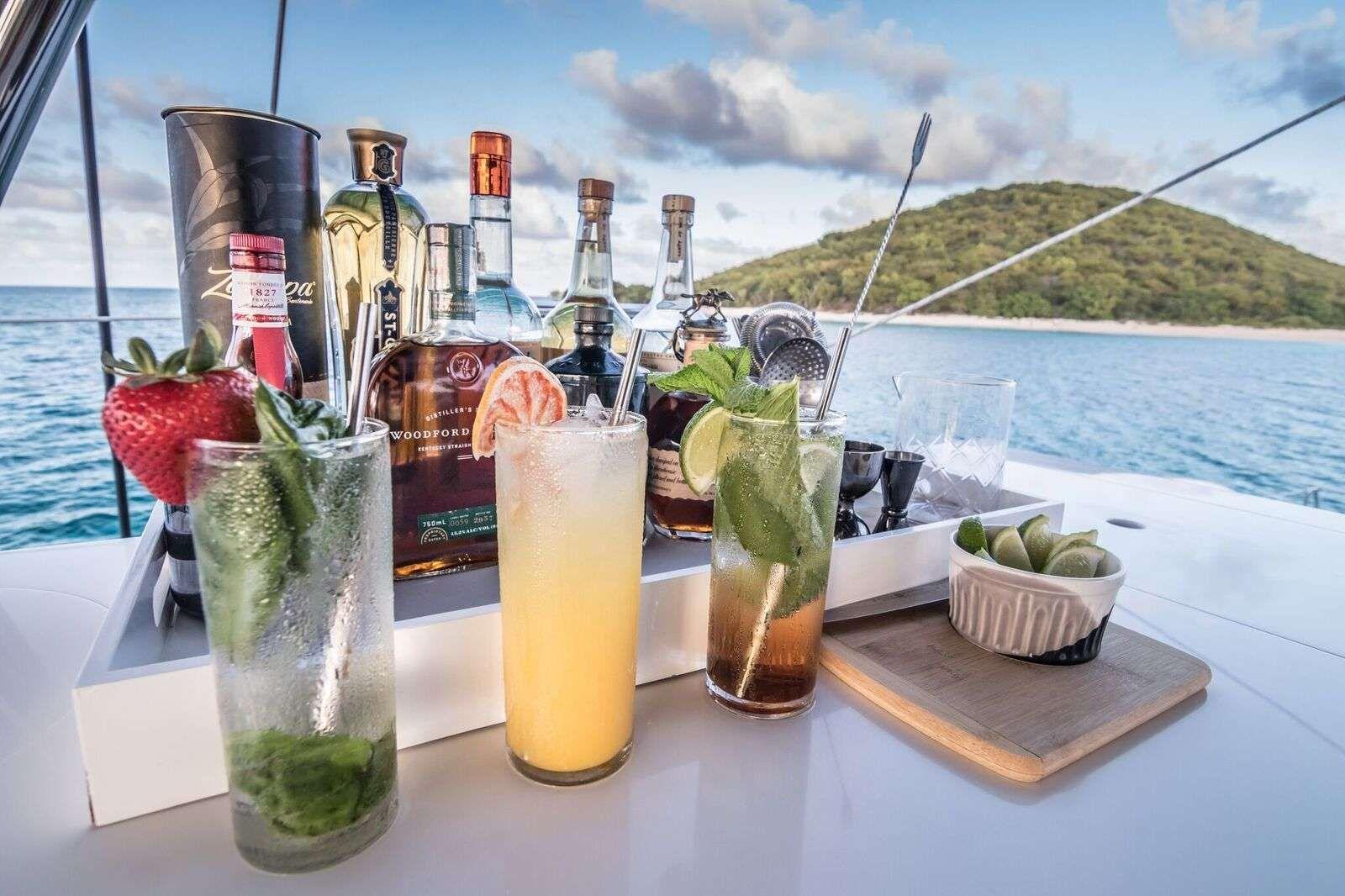 cocktails in the flybridge