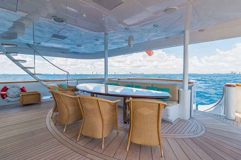 RELENTLESS Trinity 145 Luxury Superyacht Al Fresco Dining