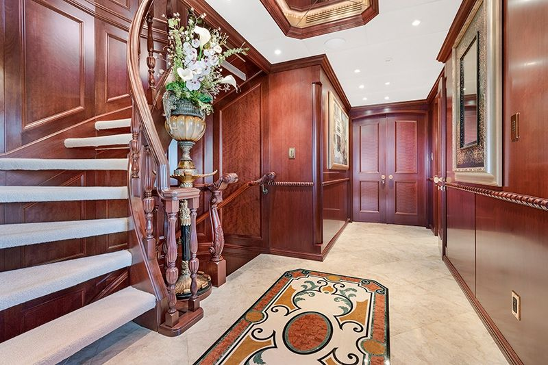RELENTLESS Trinity 145 Luxury Superyacht Stairwell