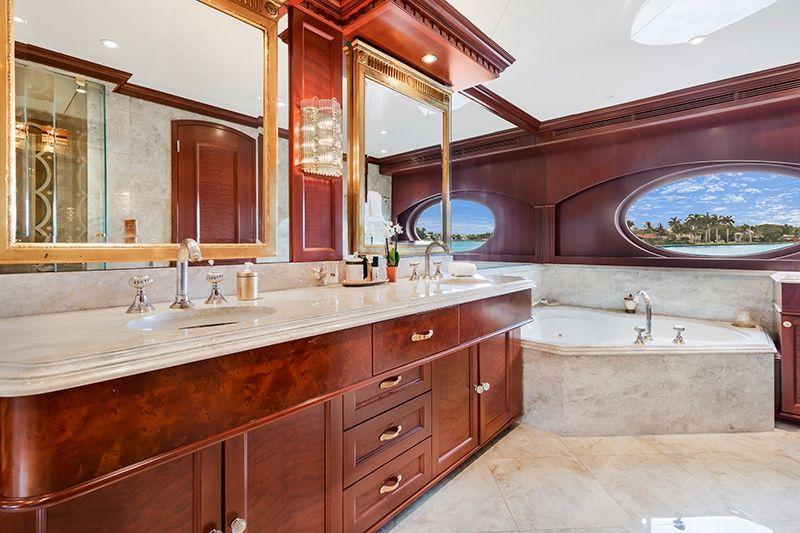 RELENTLESS Trinity 145 Luxury Superyacht Master Bathroom