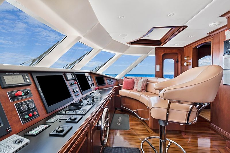 RELENTLESS Trinity 145 Luxury Superyacht Wheel House
