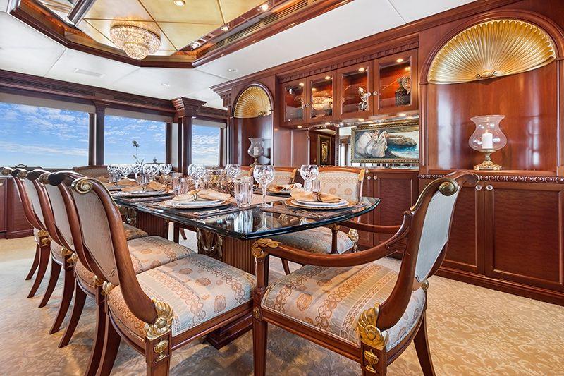 RELENTLESS Trinity 145 Luxury Superyacht Dining Room