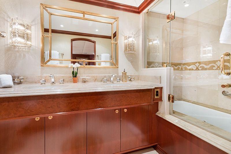 RELENTLESS Trinity 145 Luxury Superyacht Bathroom