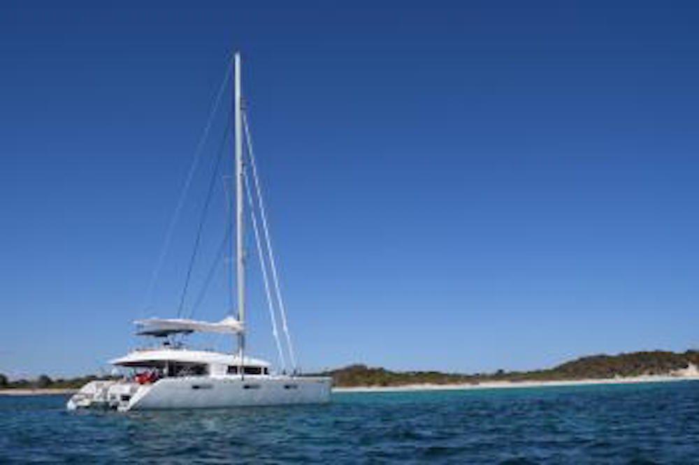 SANDISEAS - Lagoon 62 - Anchored