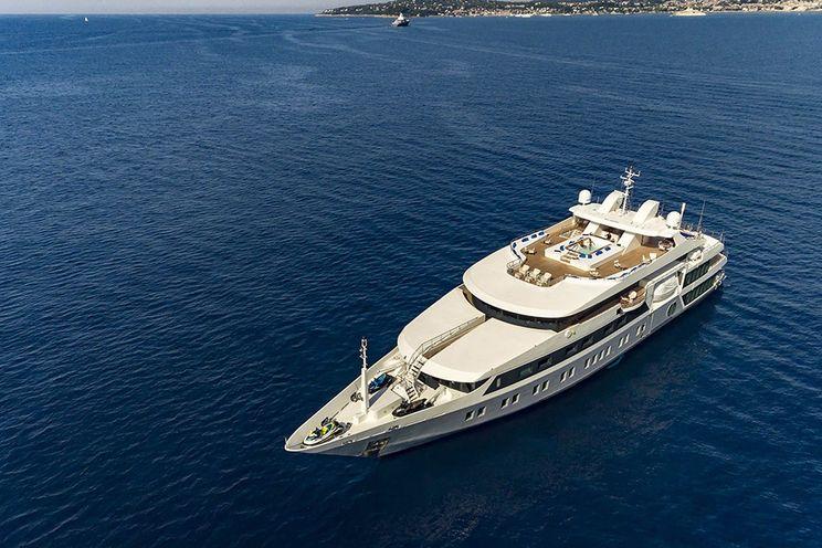 Charter Yacht SERENITY - Austal 72m - 15 Cabins - Croatia - Trogir - Split - Bahamas - Nassau - Caribbean Leeward - Windward