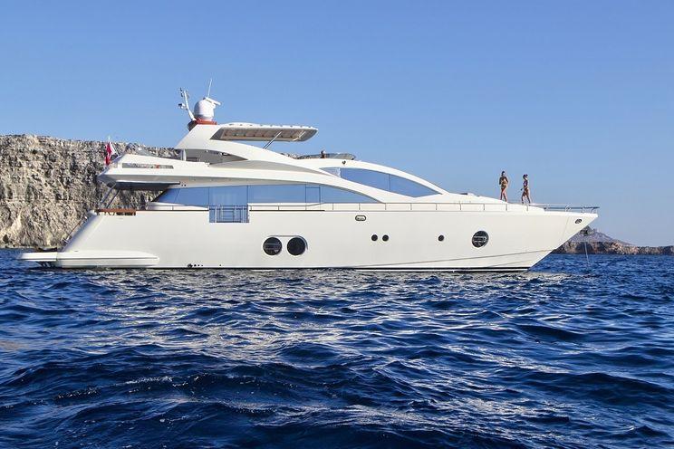 Charter Yacht SICILIA IV - Aicon 85 - 4 Cabins - Santa Eulària - Sant Antoni - Formentera - Barcelona