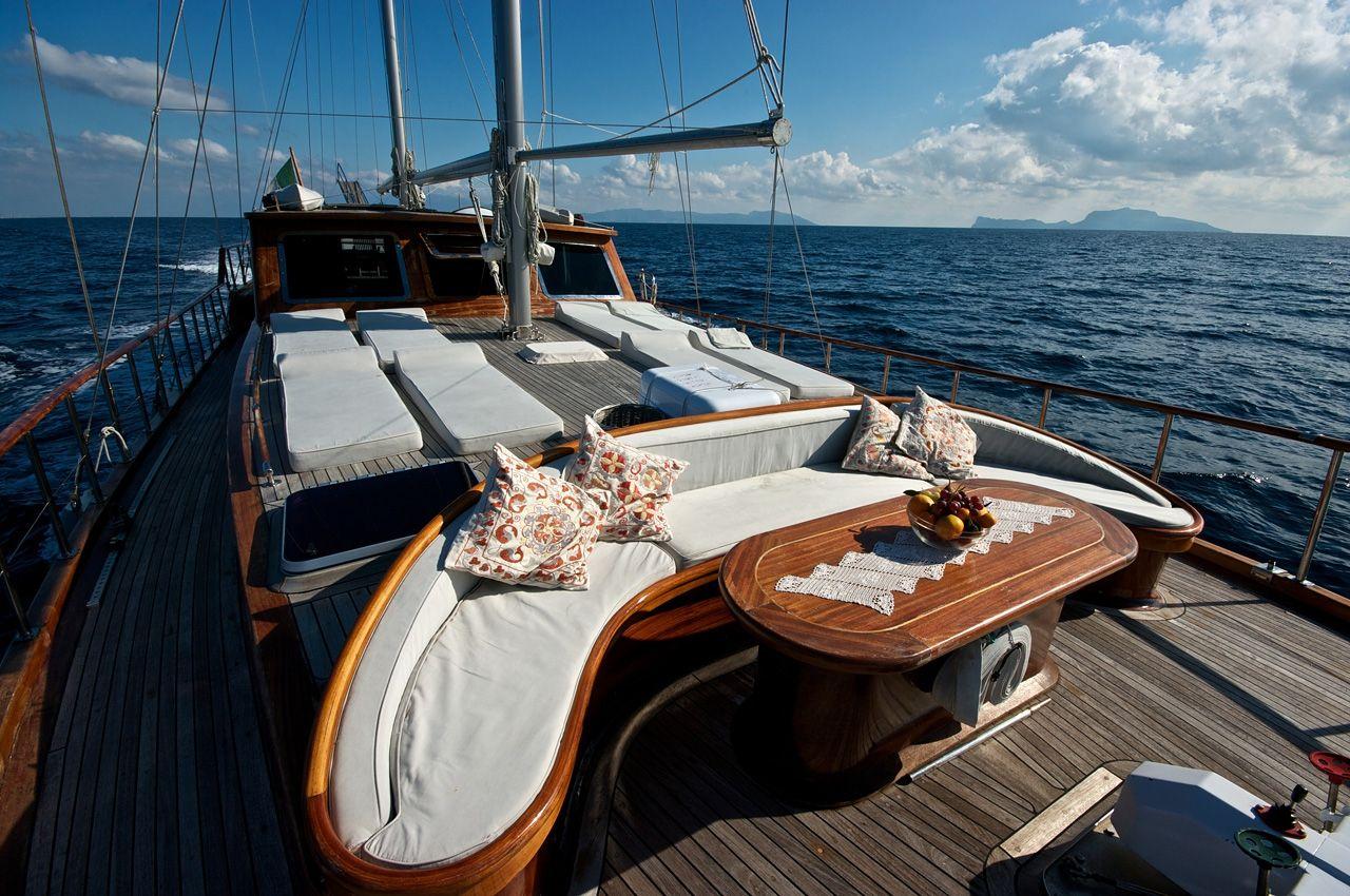 SILVER STAR Amalfi Coast Gulet Charter Lounging