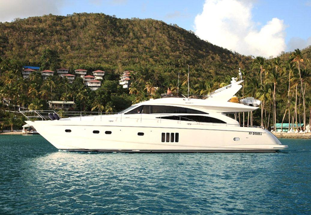 SORANA - Princess 67 - 3 Cabins - BVI - St. Martin - St. Barths - Antigua - Grenadines