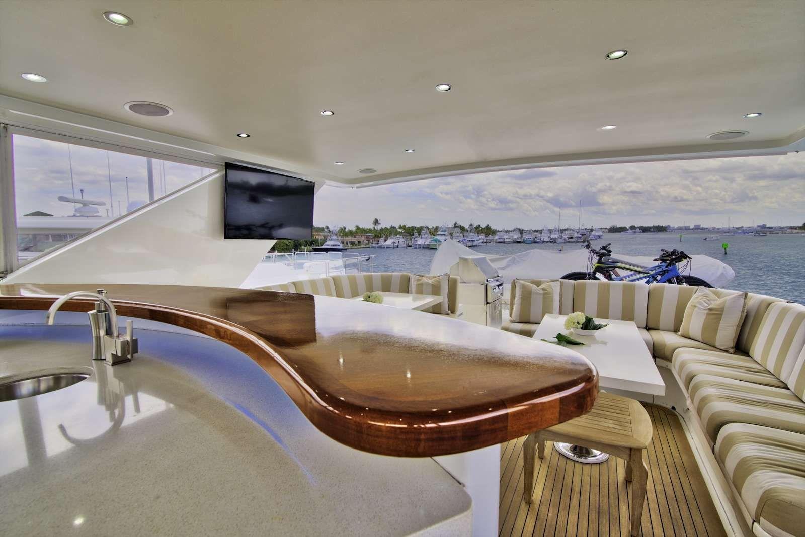 STERLING V Yacht Aft Flybridge