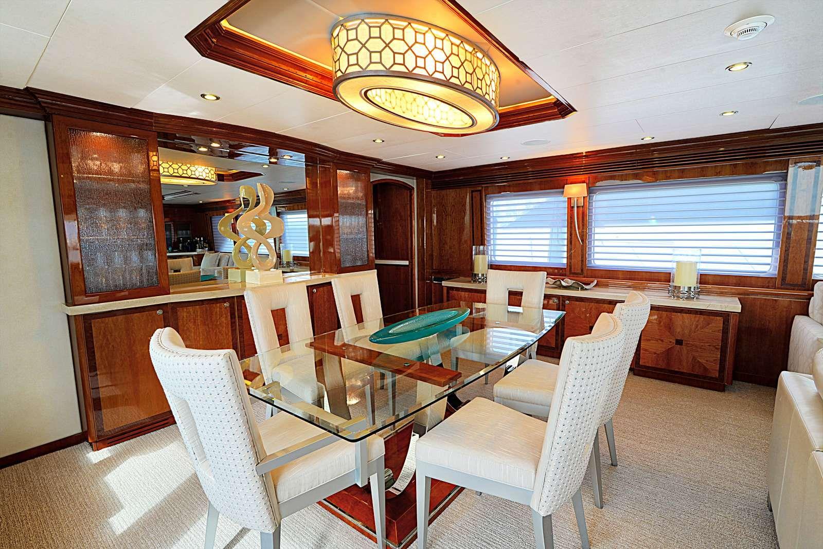 STERLING V Yacht Dining