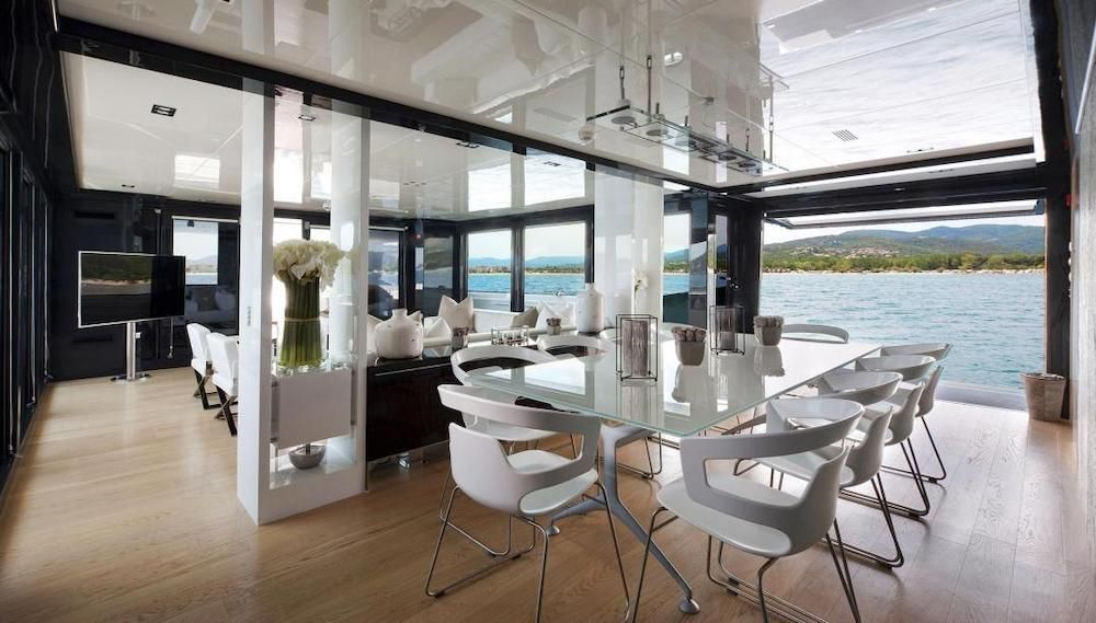 Formal Dining with Balconies