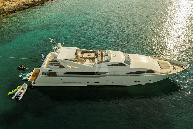 Charter Yacht CHAMPAGNE SEAS - Ferretti 112 - 5 Cabins - Athens - Mykonos - Corfu - Santorini