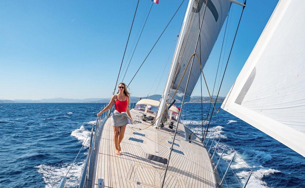 Boatbookings THALIMA Sailing Yacht Bow