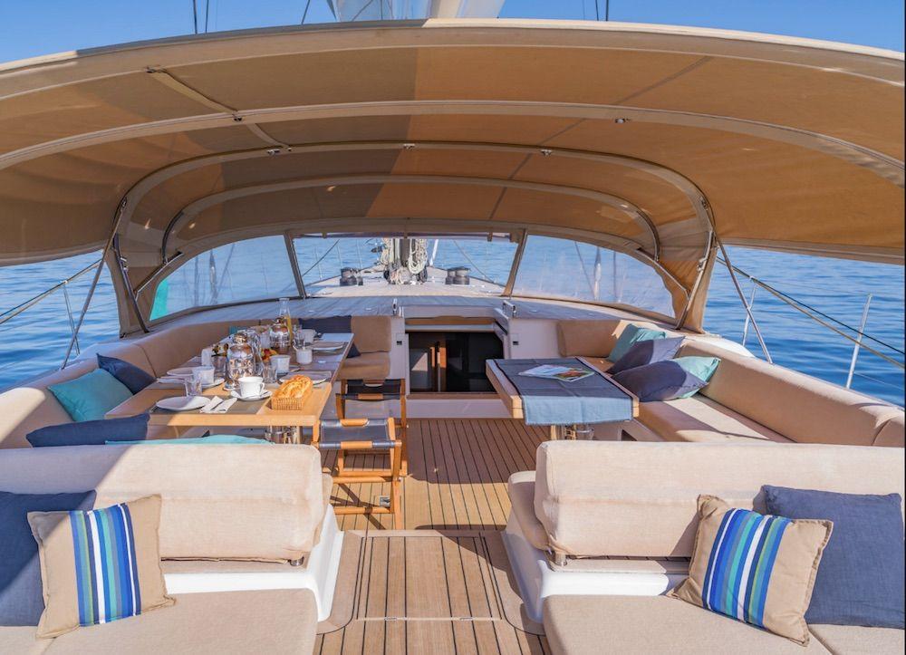 Boatbookings THALIMA Sailing Yacht Aft Layout