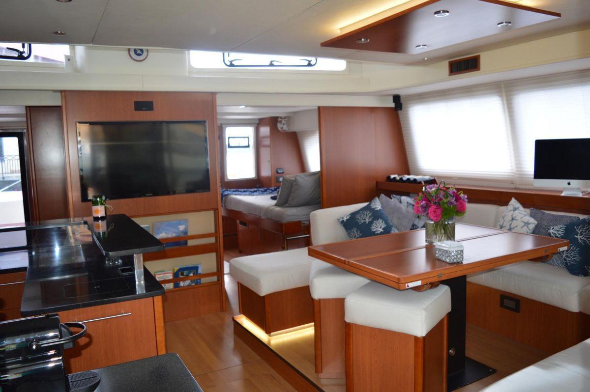 THE ANNEX Leopard 58 Crewed Catamaran Saloon