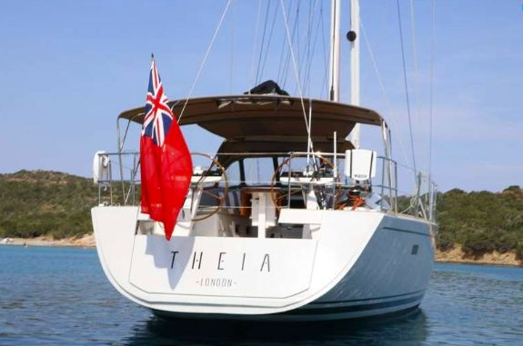 THEIA OF LONDON - at the stern
