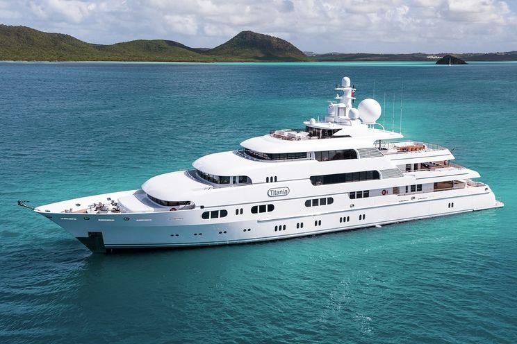 Charter Yacht TITANIA - Lurssen 73m - 7 Cabins - St Barths - Virgin Islands - Bahamas - Monaco - Amalfi Coast