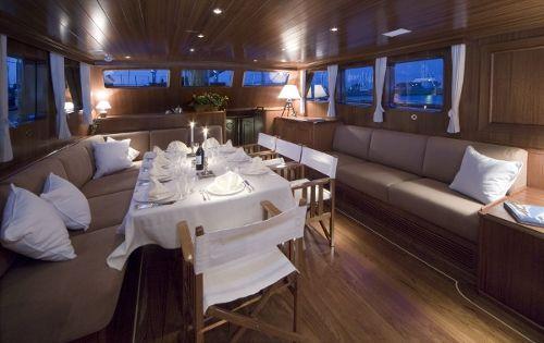 TIZIANA Abeking & Rasmussen 116 Luxury Sailing Yacht Dining