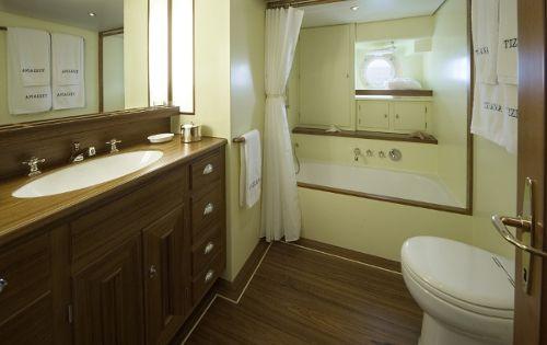 TIZIANA Abeking & Rasmussen 116 Luxury Sailing Yacht Bathroom