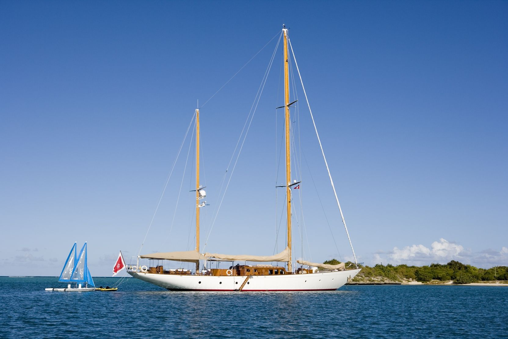 TIZIANA Abeking & Rasmussen 116 Luxury Sailing Yacht Anchored