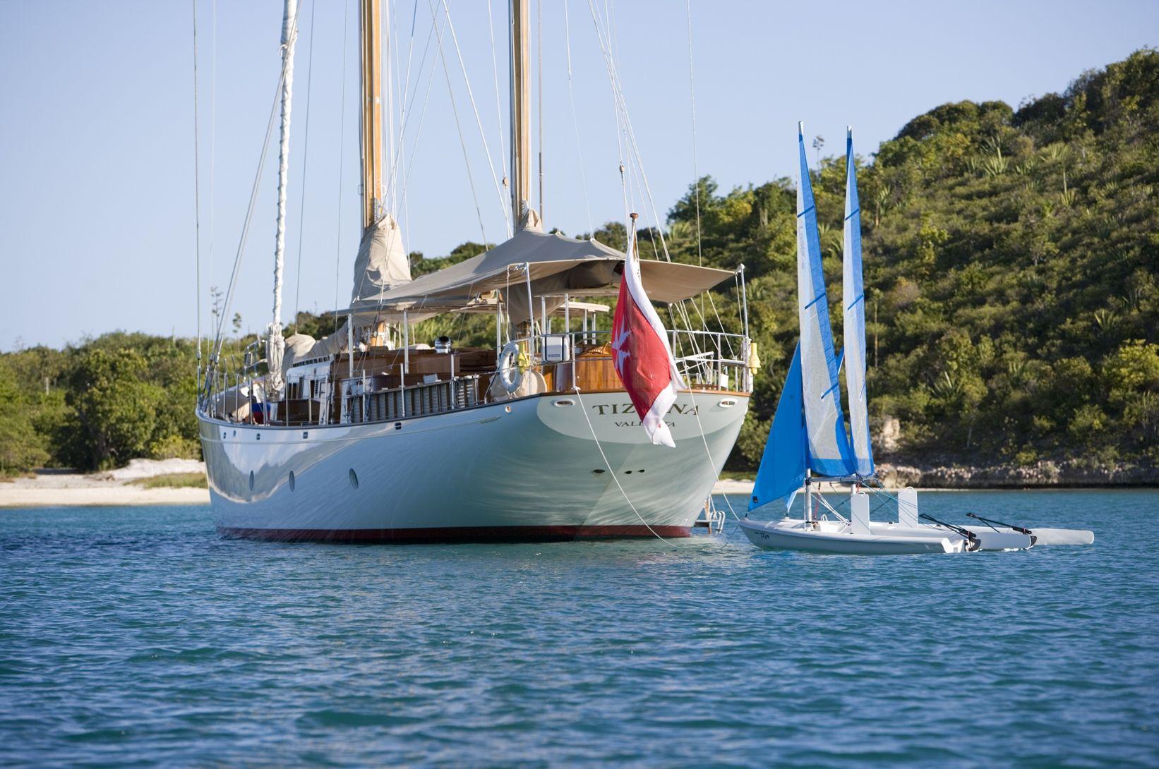 TIZIANA Abeking & Rasmussen 116 Luxury Sailing Yacht Rear View