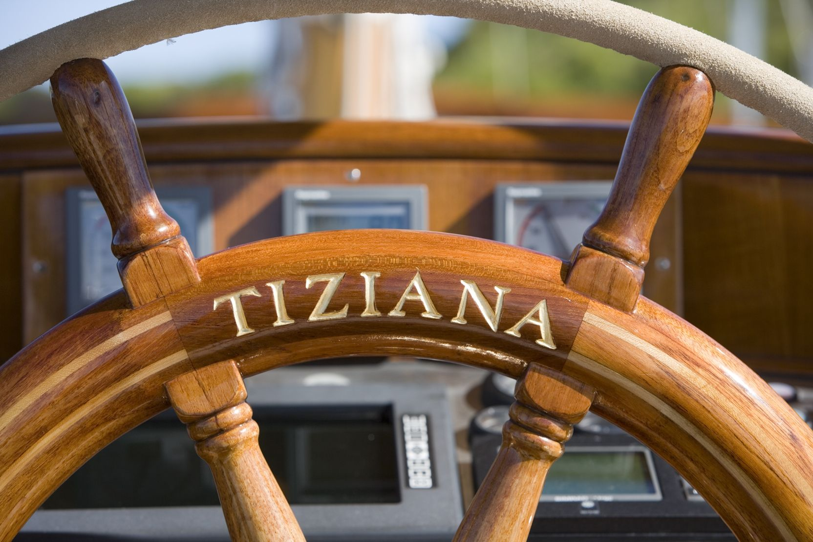 TIZIANA Abeking & Rasmussen 116 Luxury Sailing Yacht Wheel