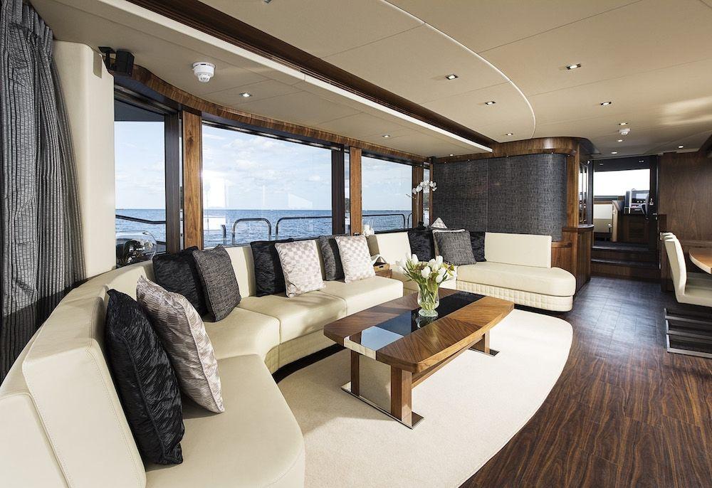 Sunseeker 28m Twenty Eight French Riviera Saloon Luxury Interior Design