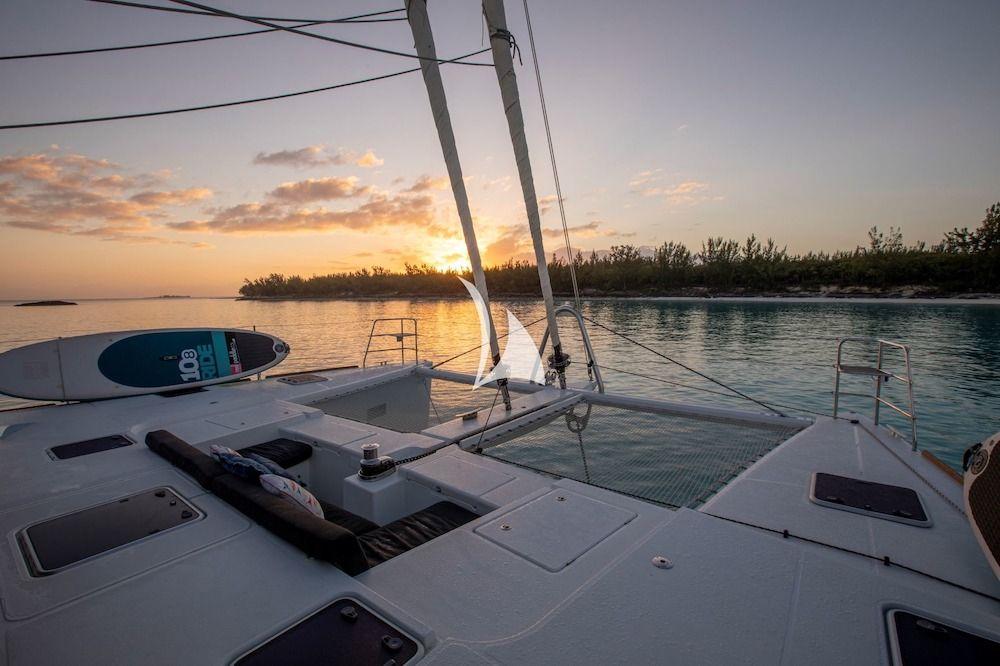 WHISPERS II Lagoon 560 Bahamas Sunset