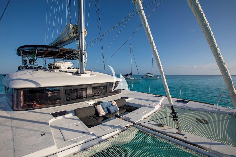 WHISPERS II Lagoon 560 Bahamas Bow