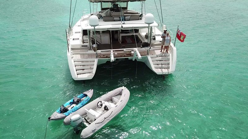 aft deck with watertoys
