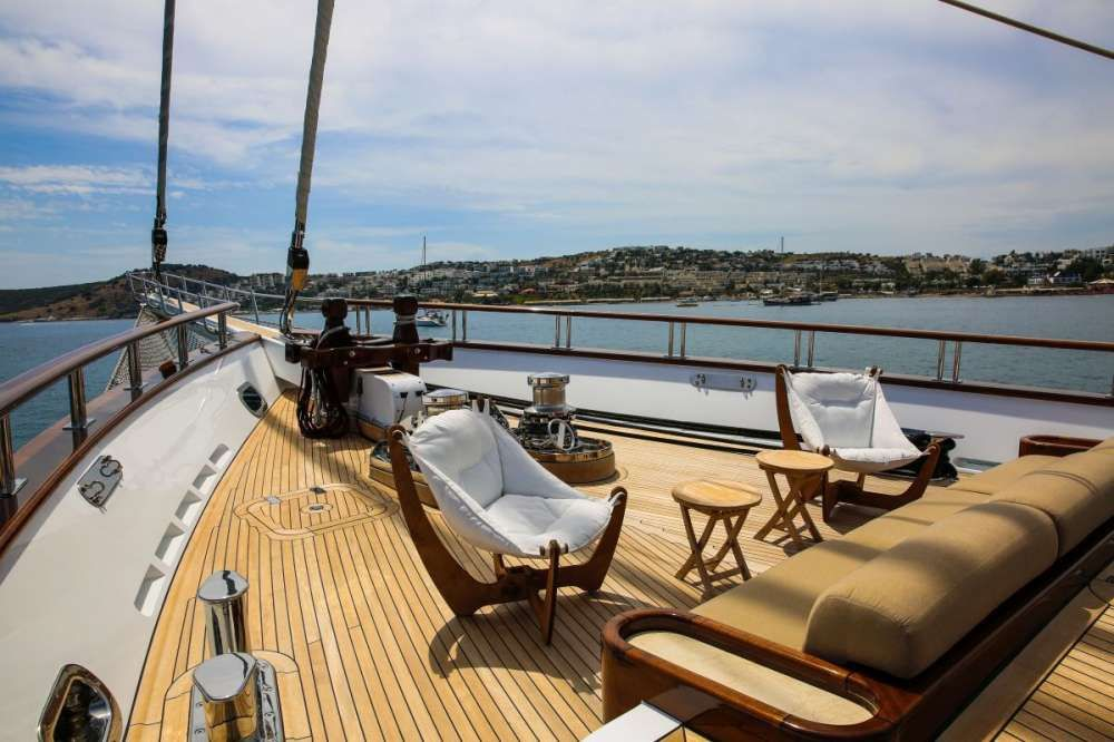 ZANZIBA Etemoglu 40m Luxury Sailing Yacht Sun Lounge